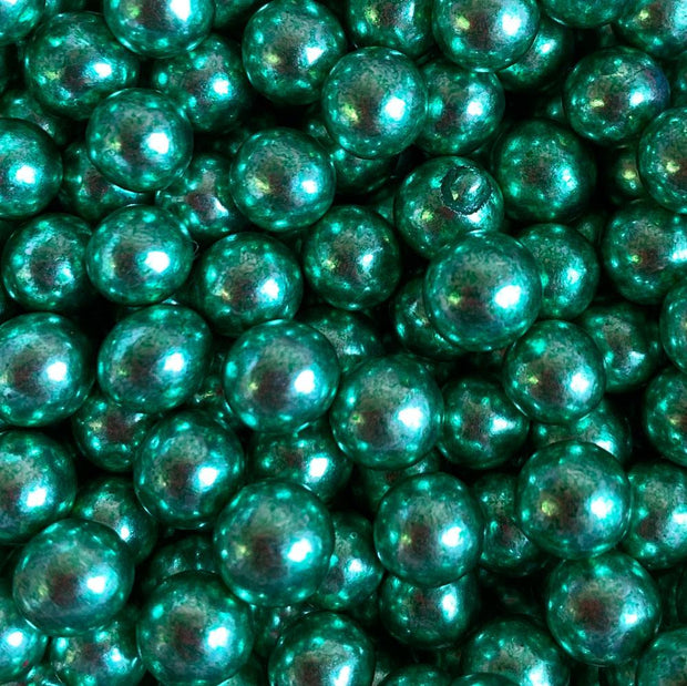 Pearls metallic - Green 6mm