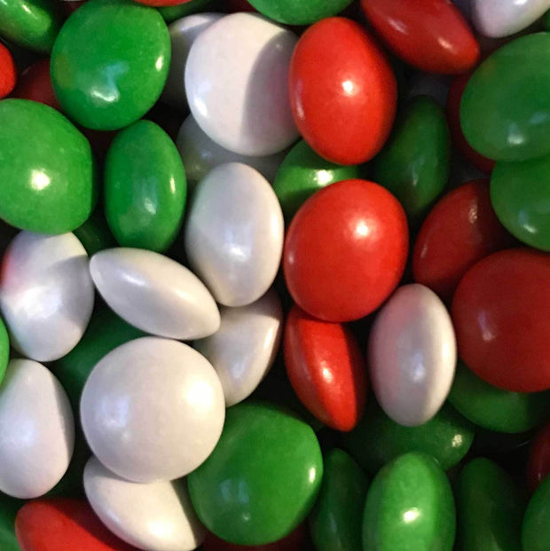 Mini Chocolate Beans - Red, White and Green