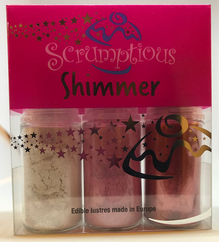 Shimmer Pump Trio - Pink, silver, red