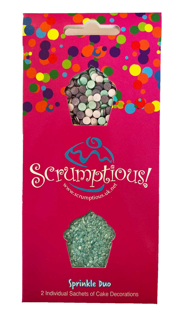 Scrumptious Sprinkle Duo Envelope - Ice - Ice Confetti and Turquoise Sugar
