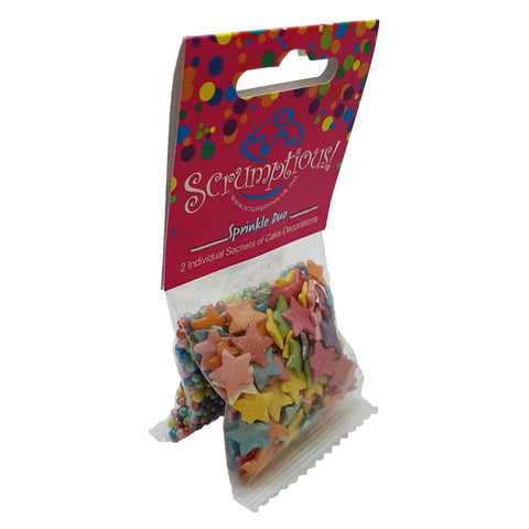 Sprinkle Duo - Jumbo Rainbow Stars and Rainbow Pearls
