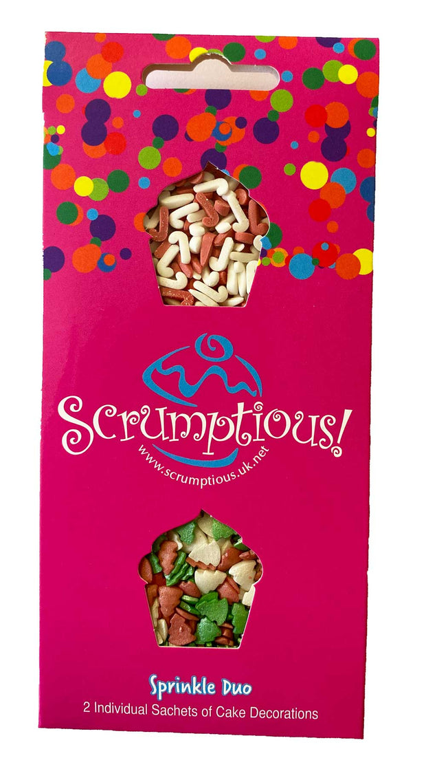 Scrumptious Sprinkle Duo Envelope - Christmas Trees and Candy Canes