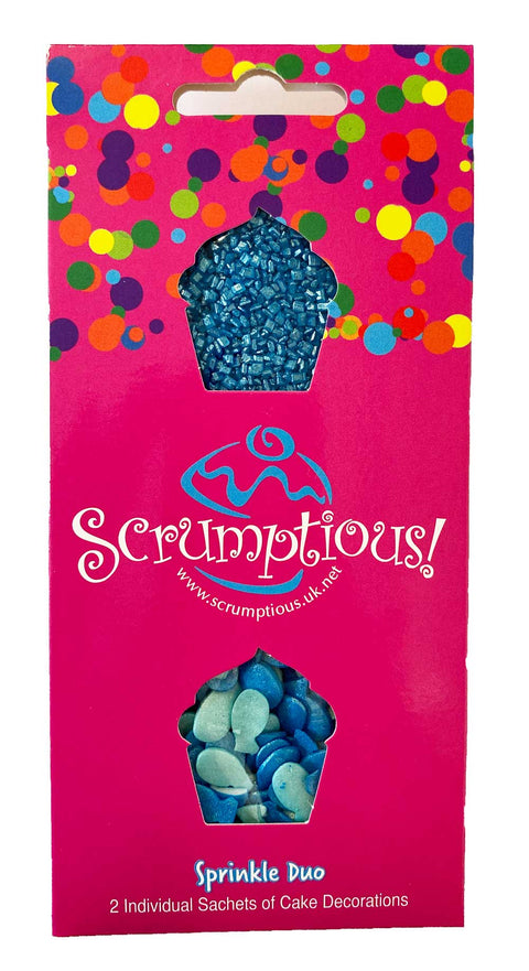 Scrumptious Sprinkle Duo Envelope - Under the Sea - Fish and Blue Glimmer Sugar