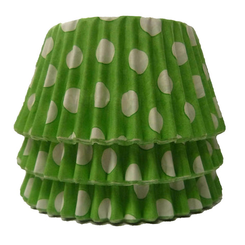 Cupcake Cases - Polkadot - Lime Green