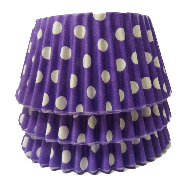Cupcake Cases - Polkadot - Purple
