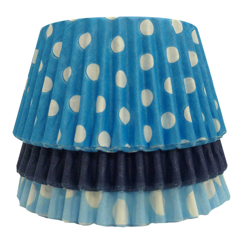 Cupcake Cases - Mixed - Dotty Blue