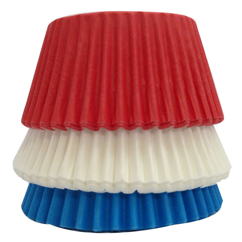 Cupcake Cases - Red, White and Blue