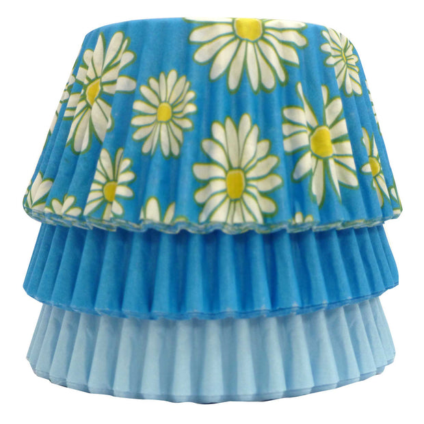 Cupcake Cases - Mixed - Blue Daisy