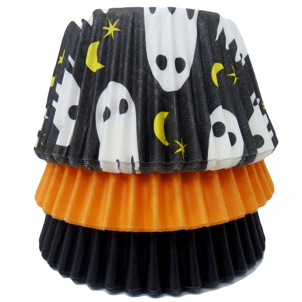 Cupcake Cases - Mixed - Ghost, Orange and Black