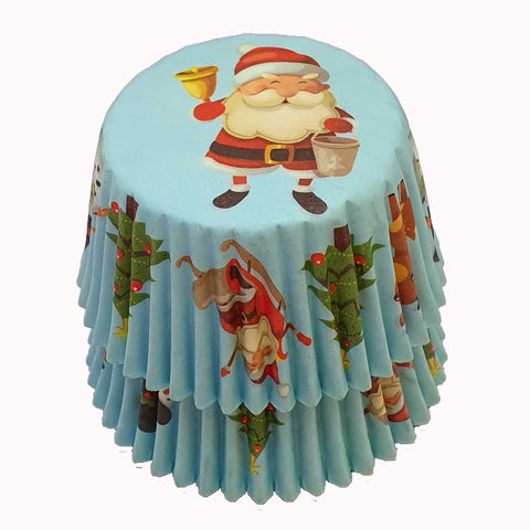 Cupcake Cases - Patterned - Santa
