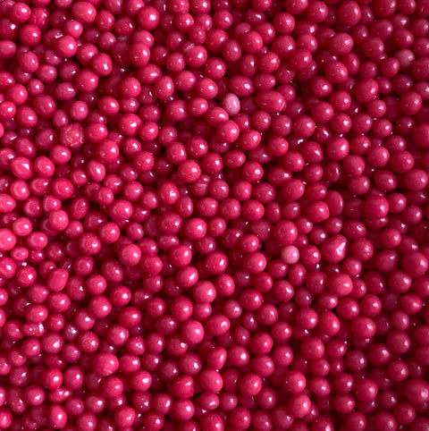 Polished Pearls 2mm - Hot Pink