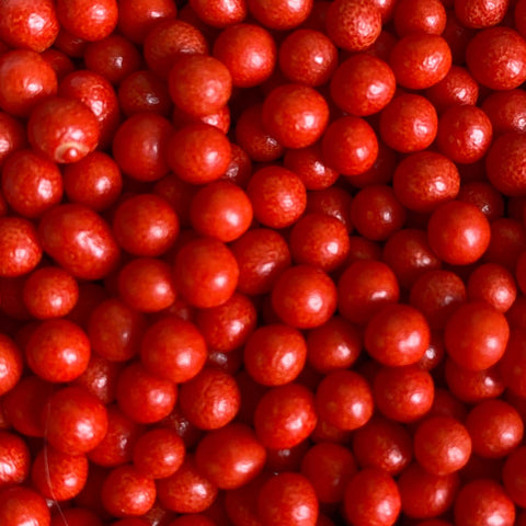 Polished Pearls 4mm - Red