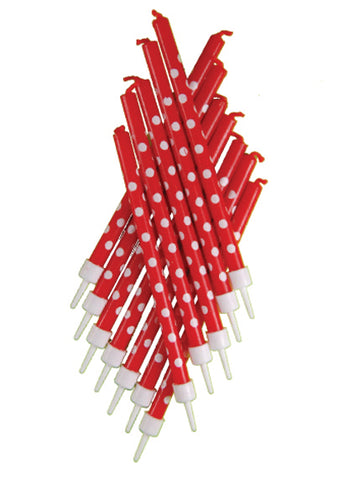 Candles - Tall Red Polka Dot