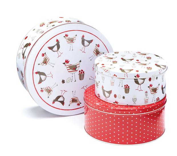 Tins - Chickens Set of 3 Cake Tins