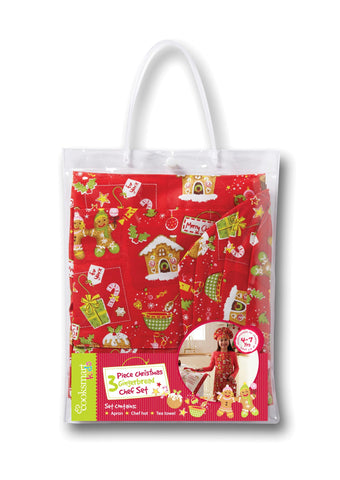 3 Piece Christmas Gingerbread Chef Set