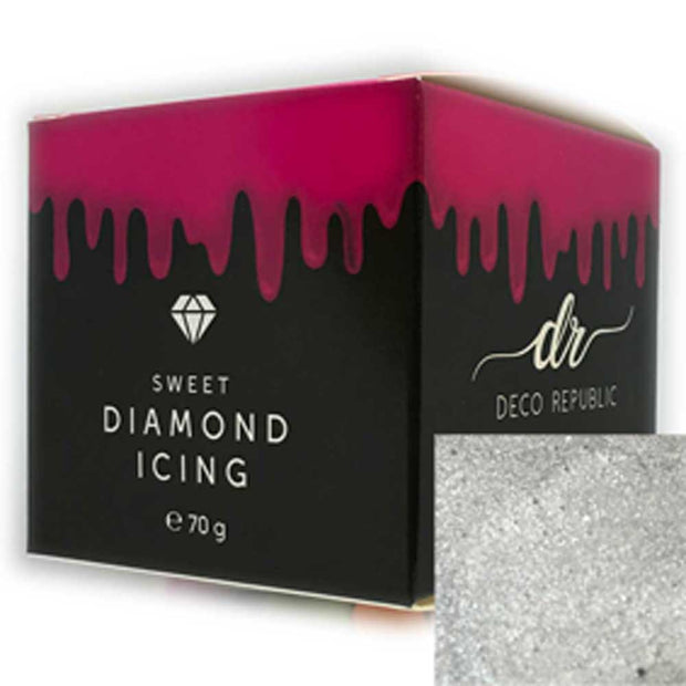 Diamond Icing - Silver 70g - Discounted