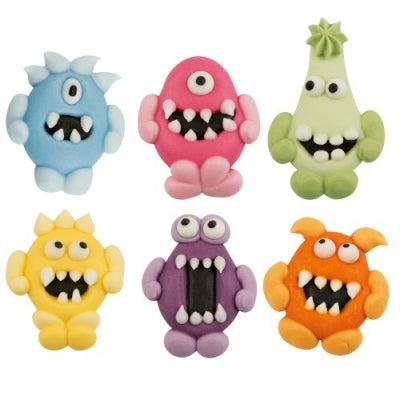Toppers - Sugar Monsters - Flat x 6