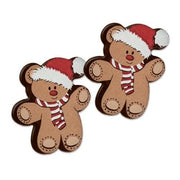 Toppers - Santa Bear - Dark Chocolate x 12