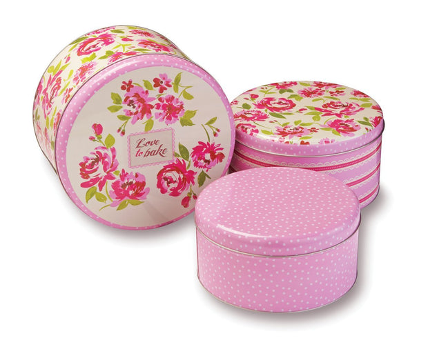 Tins - Love to Bake Set of 3 Tins