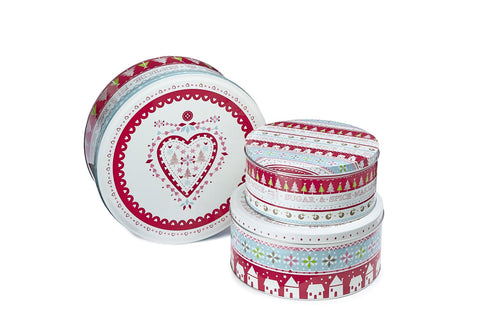 Tins - Sugar and Spice Christmas Set of 3 Tins