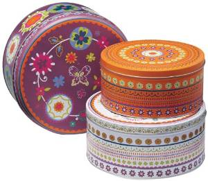 Tins - Suzani Set of 3 Tins