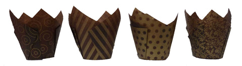 Muffin Tulips - Vogue - Brown and Gold