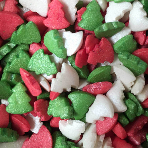 Glimmer Shapes - Christmas Trees - Red, Green and White