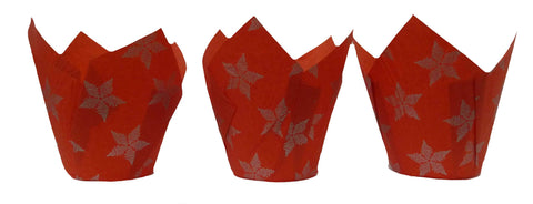 Muffin Tulips - Patterned - Red Star