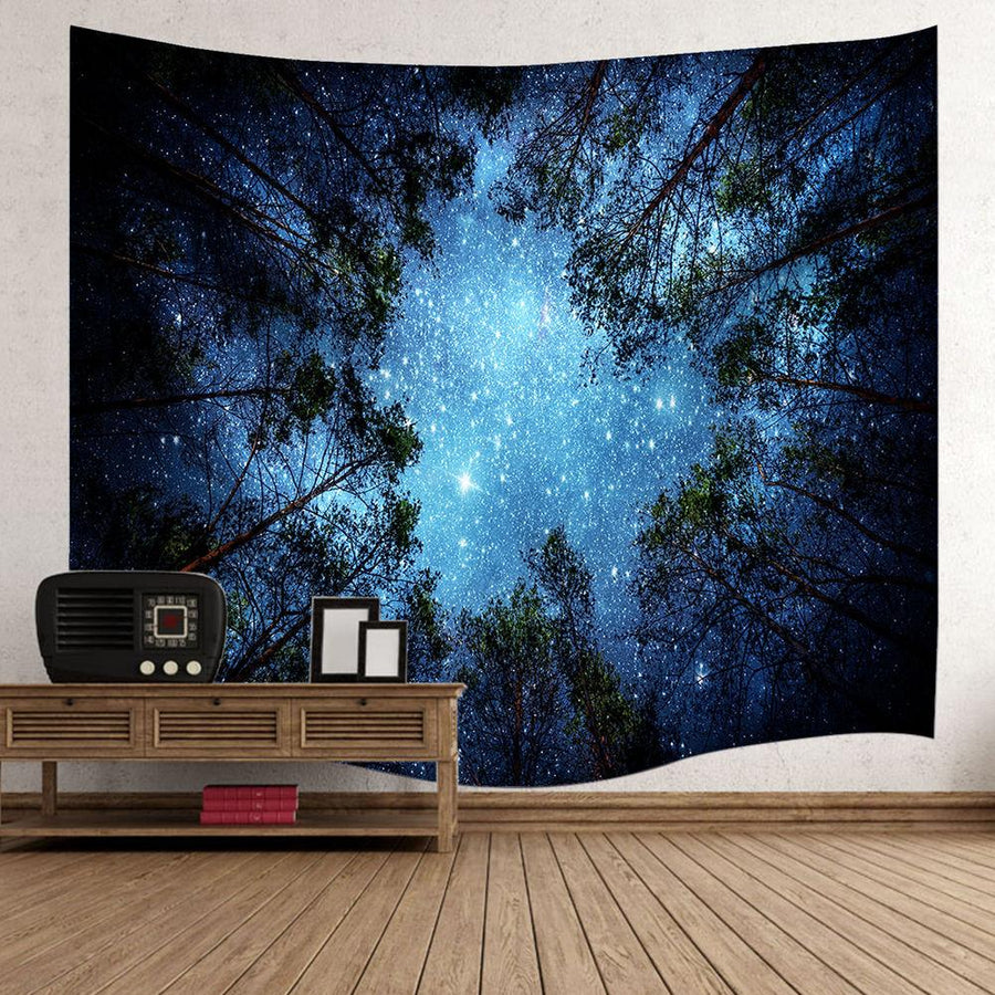 Luminous Starry Night Forest