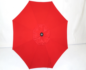 Red Umbrella Top - 9' Double Vent Market Umbrella