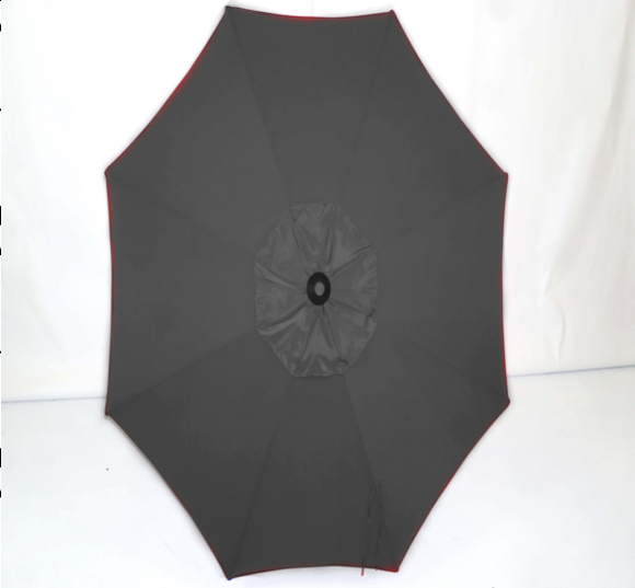 Black Top - 9' Raised Vent Market Umbrella OB2