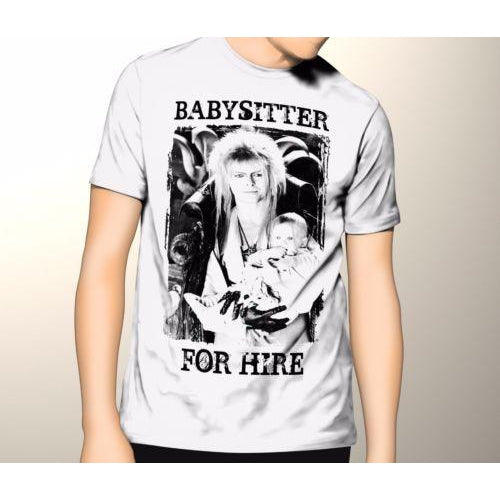 32c7813e Labyrinth Babysitter For Hire Labyrinth Shirt Premium Graphic TShirt-T-Shirt -Thinkgeek Badass
