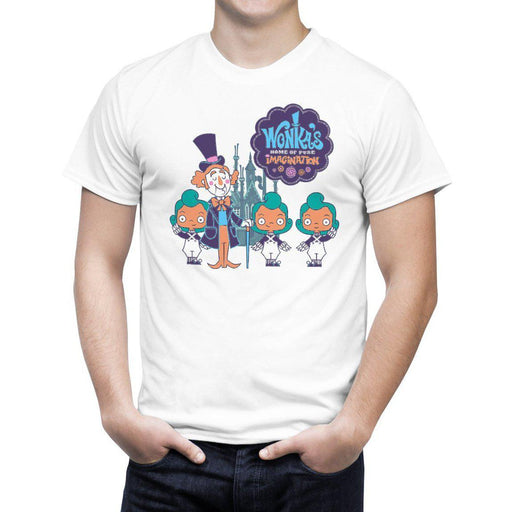 c5226ac1 Wonkas home of pure Imagination willy t shirt Funny Joke Silly-T-Shirt-