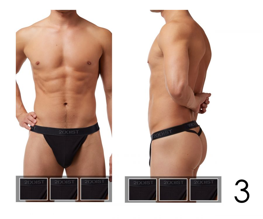 2(X)IST 3102030203 Cotton 3PK Y-Back Thongs - Mpire Men