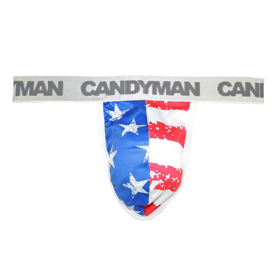 Mens Underwear Thongs, CandyMan, CandyMan 99154 Patriotic Thong - Mpire Men's Fashion