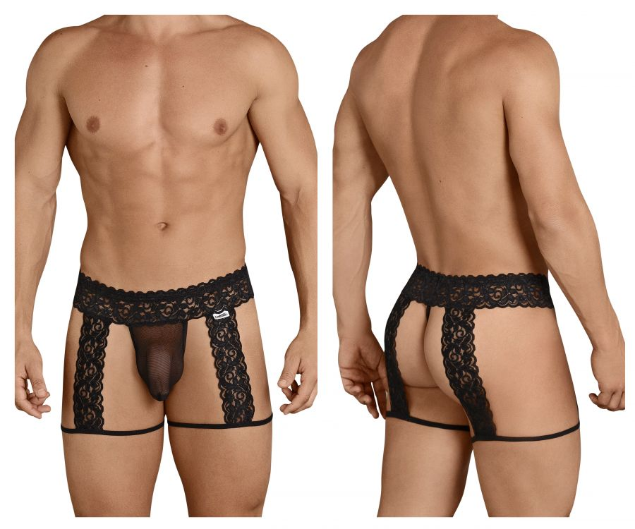 CandyMan 99369 Lace Suspender Thongs - Mpire Men