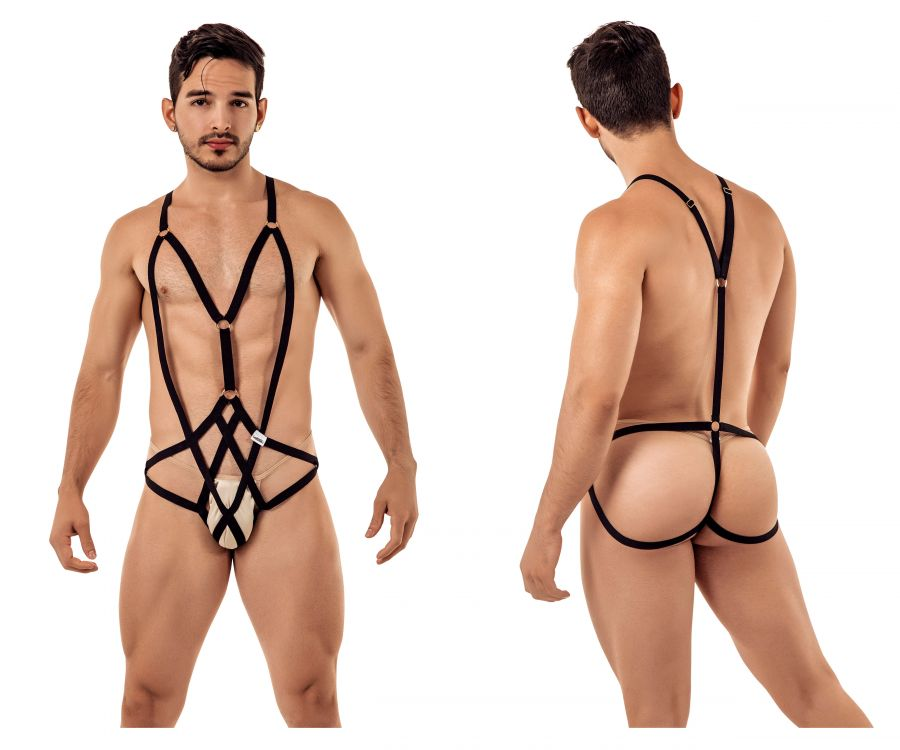CandyMan 99396 Harness Bodysuit - Mpire Men