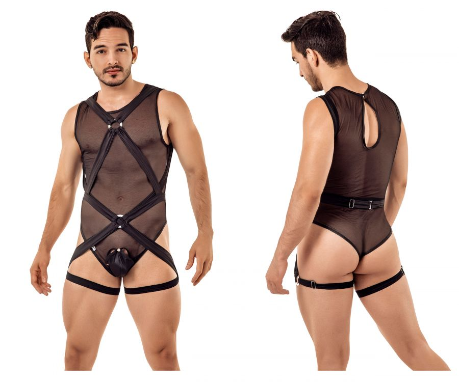 CandyMan 99408 Harness Bodysuit - Mpire Men