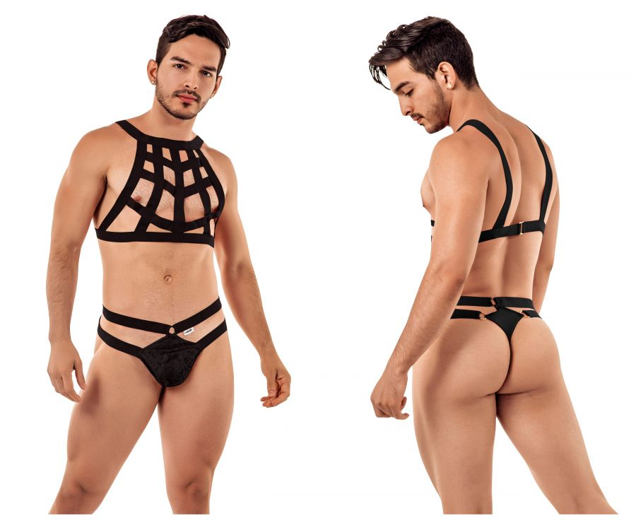 CandyMan 99419 Cage Harness Thongs