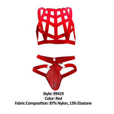 CandyMan 99419 Cage Harness Thongs - Mpire Men