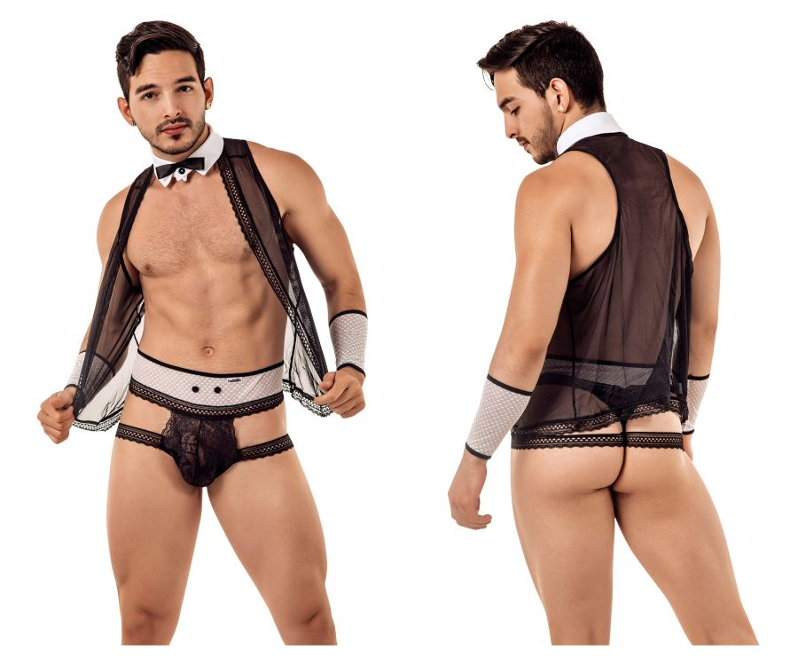CandyMan 99426 Barman Costume outfit Thongs - Mpire Men