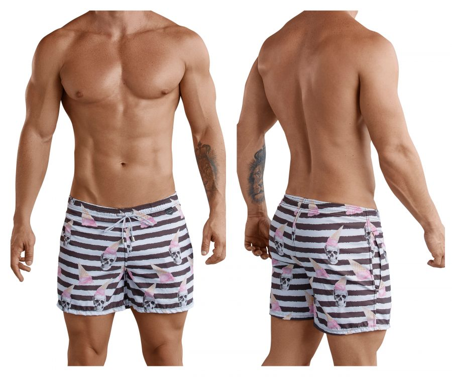 Clever 0672 Skulls Atleta Swim Trunks - Mpire Men