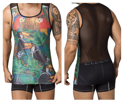 Clever 7028 Toucan Tank Top - Mpire Men