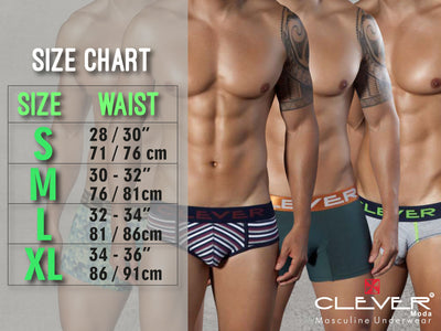 Mens Underwear Briefs, Clever, Clever 5349 Modern Piping Briefs - Mpire Men's Fashion