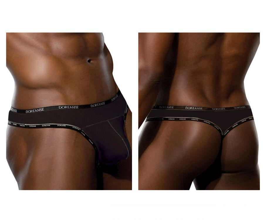 Doreanse 1216-BLK BLK Naked Thong - Mpire Men