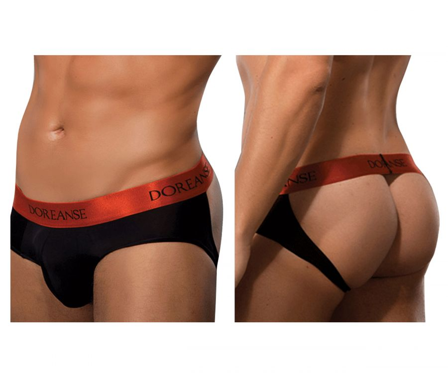 Doreanse 1310-BLK Bravo Brief-jock - Mpire Men