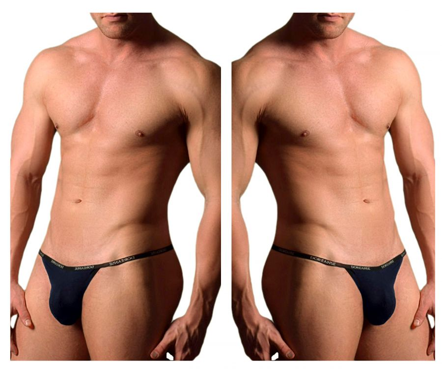 Doreanse 1330-NVY Ribbed Modal T-thong - Mpire Men