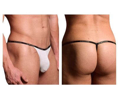 Doreanse 1330-WHT Ribbed Modal T-thong - Mpire Men