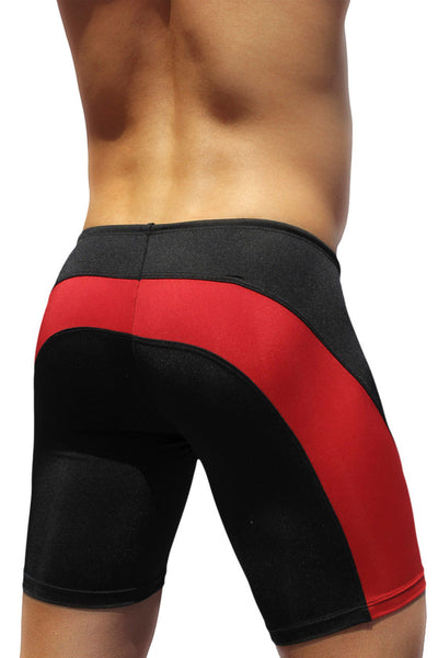 Swimwear Swim Trunks, ErgoWear, ErgoWear EW0413 FEEL Swim Trunk Color Black-Red - Mpire Men's Fashion