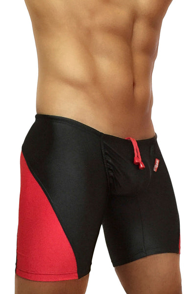 ErgoWear EW0413 FEEL Swim Trunk Color Black-Red